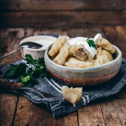 Вареники  с картофелем и перепелиным фаршем 0.5 кг